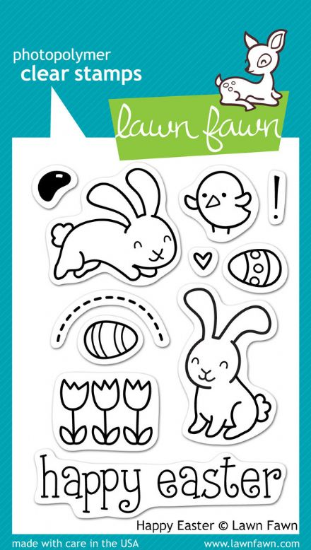 LF0453 M ~ HAPPY EASTER ~ CLEAR STAMPS BY LAWN FAWN
